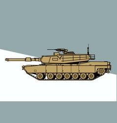 M1 abrams us main battle tank vector