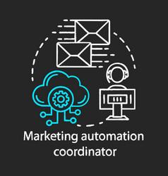 Marketing automation coordinator chalk concept vector
