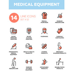 medical equipment - modern simple thin line design vector image
