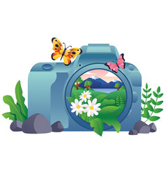 Nature photography concept vector