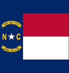 North carolina flag united states america vector