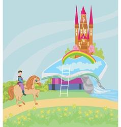 Open book - Prince riding a horse vector