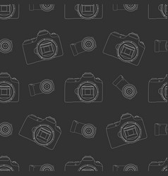 Photo camera seamless pattern vector