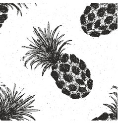 pineapple hand drawn seamless pattern fruits vector image