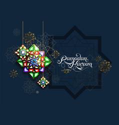 ramadan kareem abstract girih flower encrusted vector image