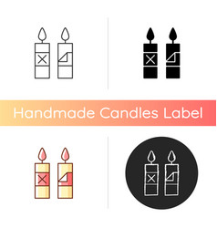 Remove candle packaging before use manual label vector