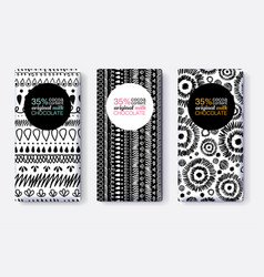Set of black and white chocolate bar vector