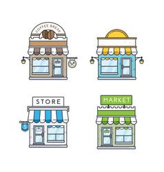 Set store buildings vector