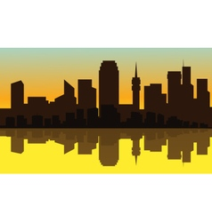 Silhouette of city suburb vector