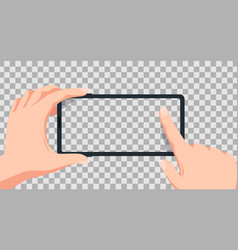 smartphone screen smartphone in hands vector image