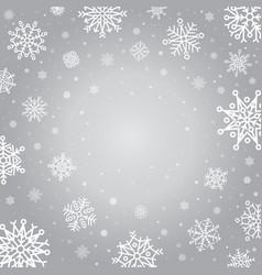 snowflakes winter background holiday silver frost vector image