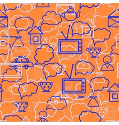 speech bubbles orange background vector image