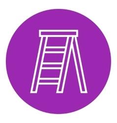 Stepladder line icon vector