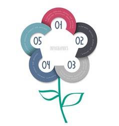 Stylized flower trendy design for infographics vector image vector image