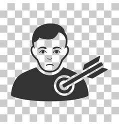 Target Man Icon vector
