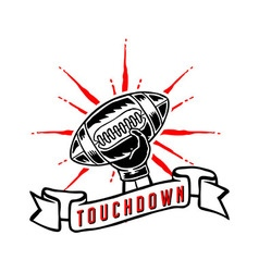 Touchdown Hand Draw vector