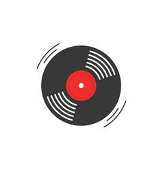 vinyl record icon gramophone record vector image