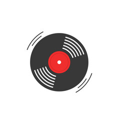 vinyl record icon gramophone vinyl record vector image