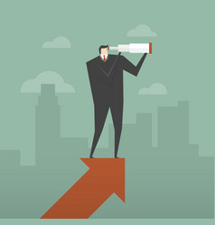 vision and growth concept vector image