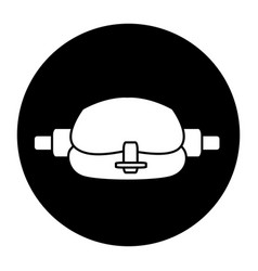 Waist sport bag accessory sign vector