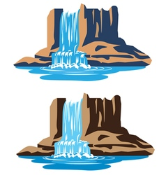 Waterfalls vector