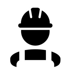 worker icon male construction service person vector image