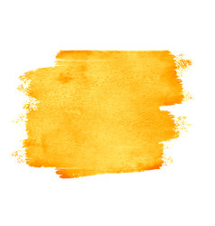 Yellow watercolor stain texture with text space vector