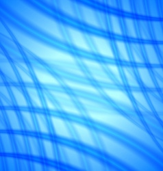 Abstract background with soft blue lines vector image