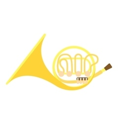 Brass pipe icon flat style vector image vector image