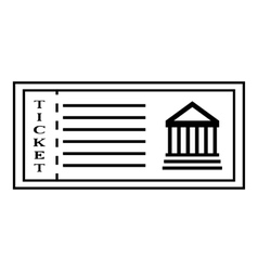 Ticket to museum icon outline style vector image