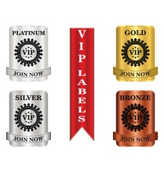 Vip package labels vector