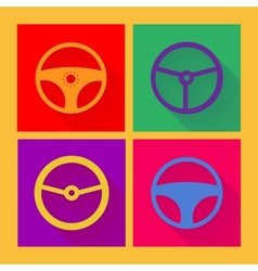 Car wheel icon in flat style vector image vector image