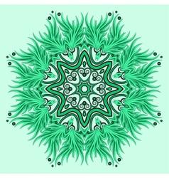 Mandala ornament in green colors vector image vector image