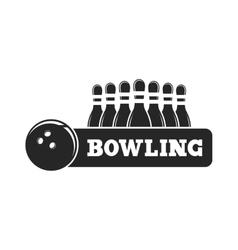 set of bowling emblems vector image vector image