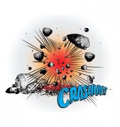 comic book crash vector image vector image