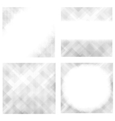 Halftone Patterns Collection Dotted Background vector image vector image