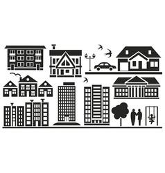 multi storey buildings vector image vector image