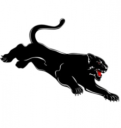 panther attacks vector image