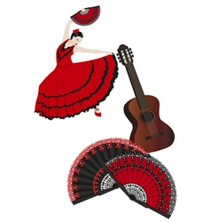 spanish montage vector image vector image