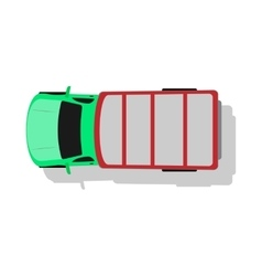 Car Van Top View Flat Design vector image vector image