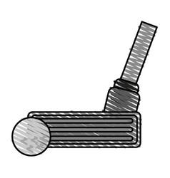 color crayon stripe cartoon closeup golf club and vector image vector image