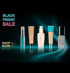 cosmetic product foundation make up vector image vector image