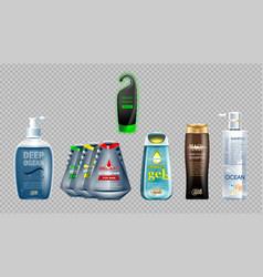 digital ocean blue shower vector image vector image