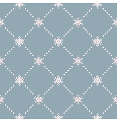 Seamless winter background with snowflakes EPS 10 vector image vector image