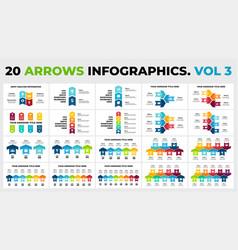 20 arrows infographic part 3 presentation vector