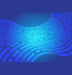 abstract blue line wave data light motion vector image