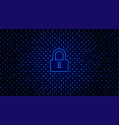 Abstract tech bg with lock access protection vector