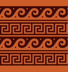 ancient-greek-seamless-pattern-1a-color vector image