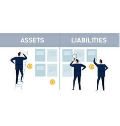 Assets liabilities manage wealth equity management vector