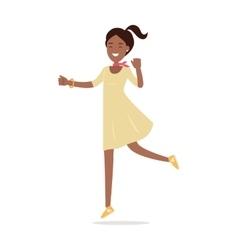 Beautiful Happy Woman Flat vector image